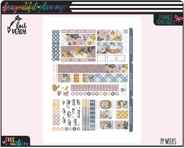Pumpkins Monthly Printable *Choose Your Planner*