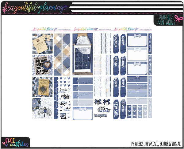 Blue Weekly Printable *Choose Your Planner*