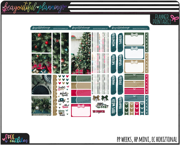 Seasons Greetings Real Photo Weekly Printable *Choose Your Planner*