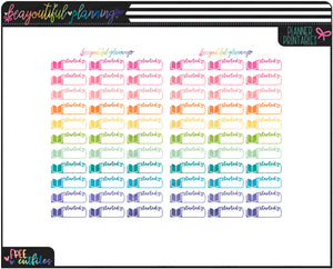 Started Labels Functional Printables *Choose Rainbow or Foil Ready *
