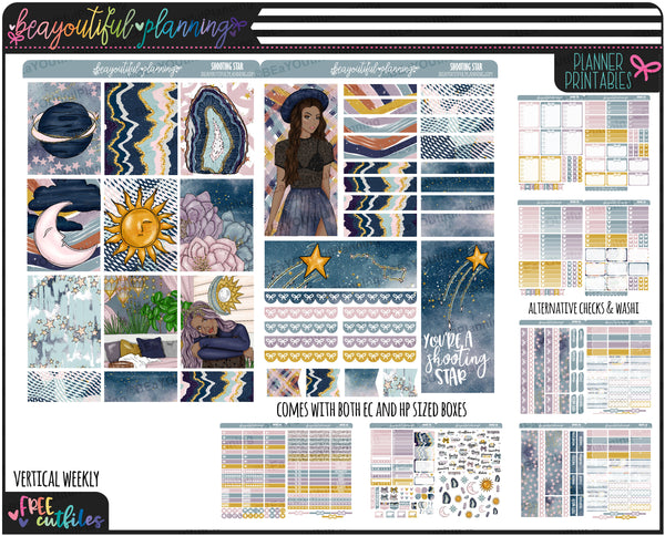 Shooting Star Weekly Printable *Choose Your Planner*