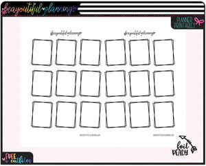 Squares  Foil Ready Overlay Printable