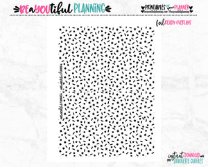 Stars Monthly Overlays Foil Ready Printable