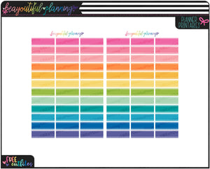Quarter Boxes Rainbow Functional Printables *Choose Type*