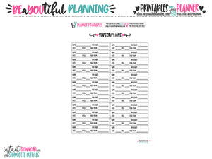 Subscription Tracker Printable