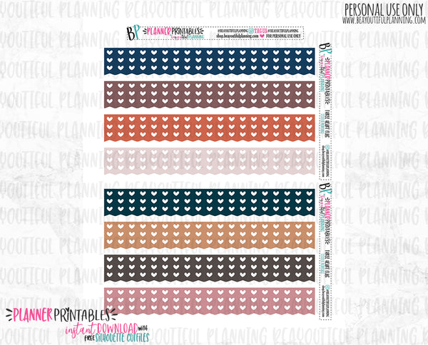 Three Heart Flag Boxes Printable *Additional Colors Available*