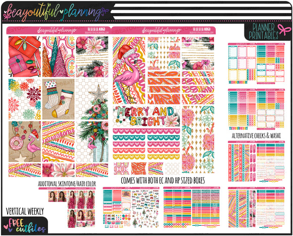 Fa La La La Mingo Weekly Printable *Choose Your Planner*