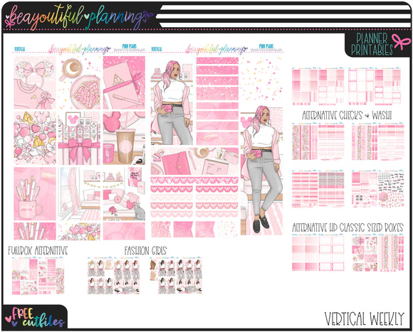Pink Plans Weekly Printable *Choose Your Planner*