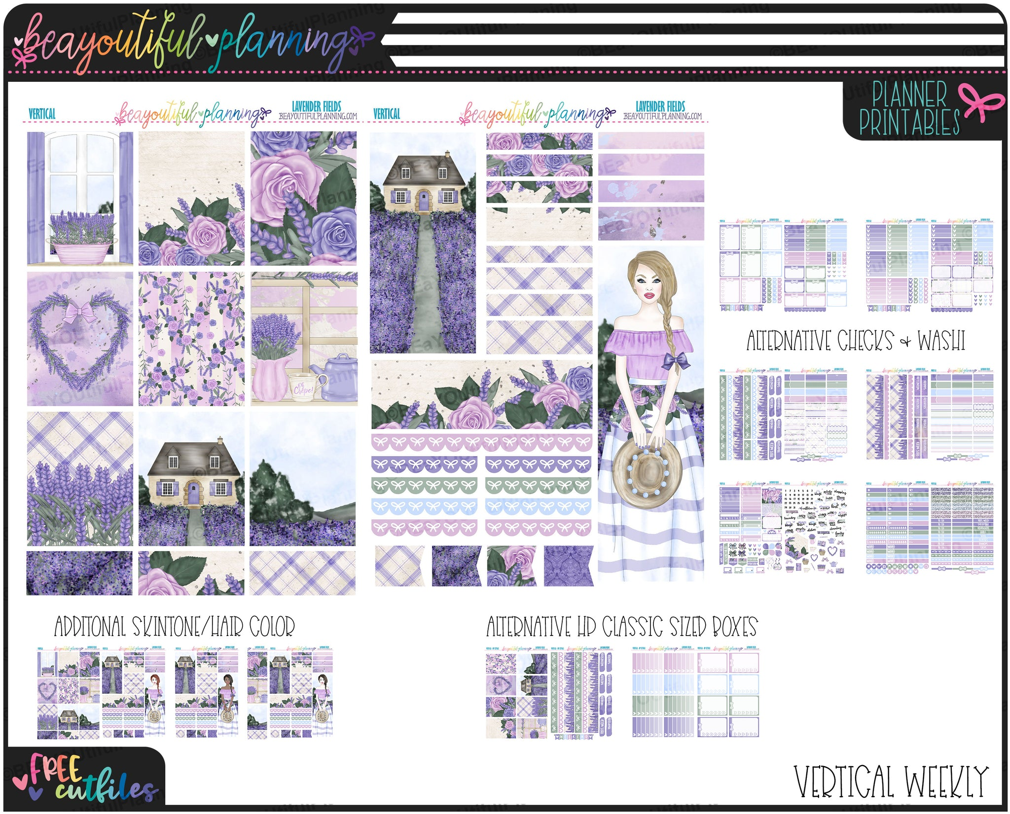 Lavender Fields Weekly Printable *Choose Your Planner*