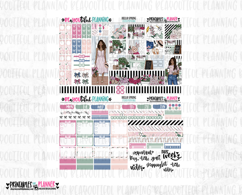 Hello Spring Hobonichi Weeks Printable