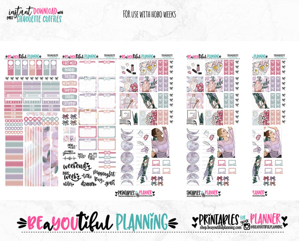 Tranquility Hobonichi Weeks Printable