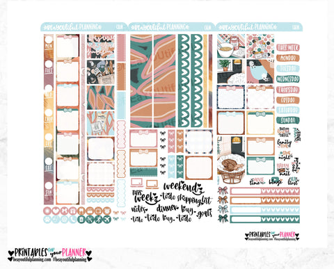 Calm Hobonichi Weeks Printable