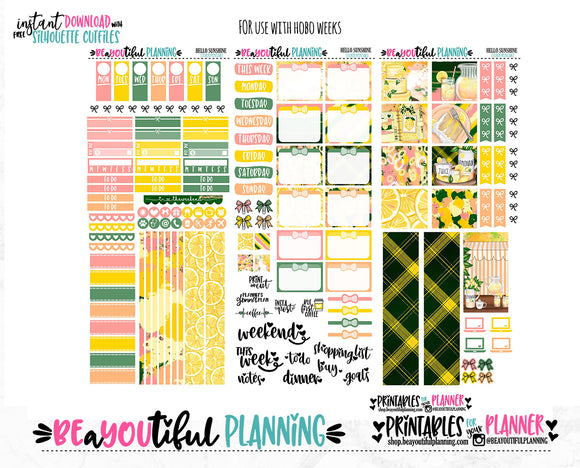 Hello Sunshine Hobonichi Weeks Printable