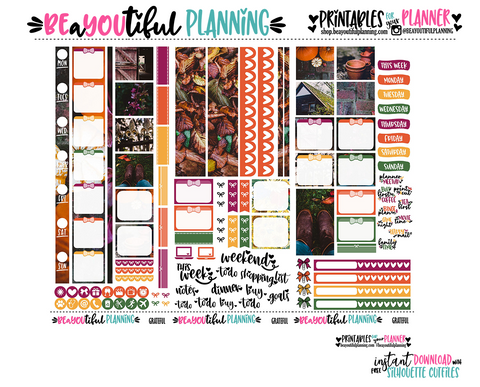 Grateful Hobonichi Weeks Printable