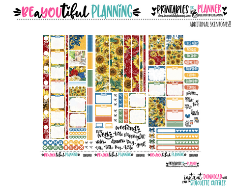 Sunflower Hobonichi Weeks Printable