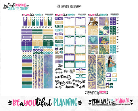 Emerald Nights Hobonichi Weeks Printable