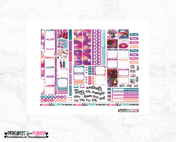 Summer Nights Hobonichi Weeks Printable