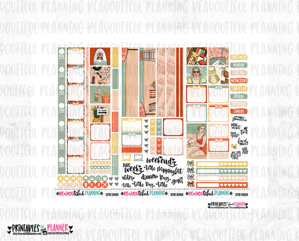 Retro Summer Hobonichi Weeks Printable