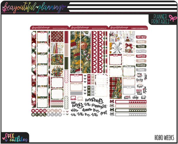 Mistletoe Updated Weekly Printable *Choose Your Planner*