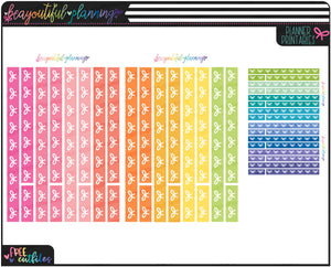 Bow Washi Rainbow Functional Printables