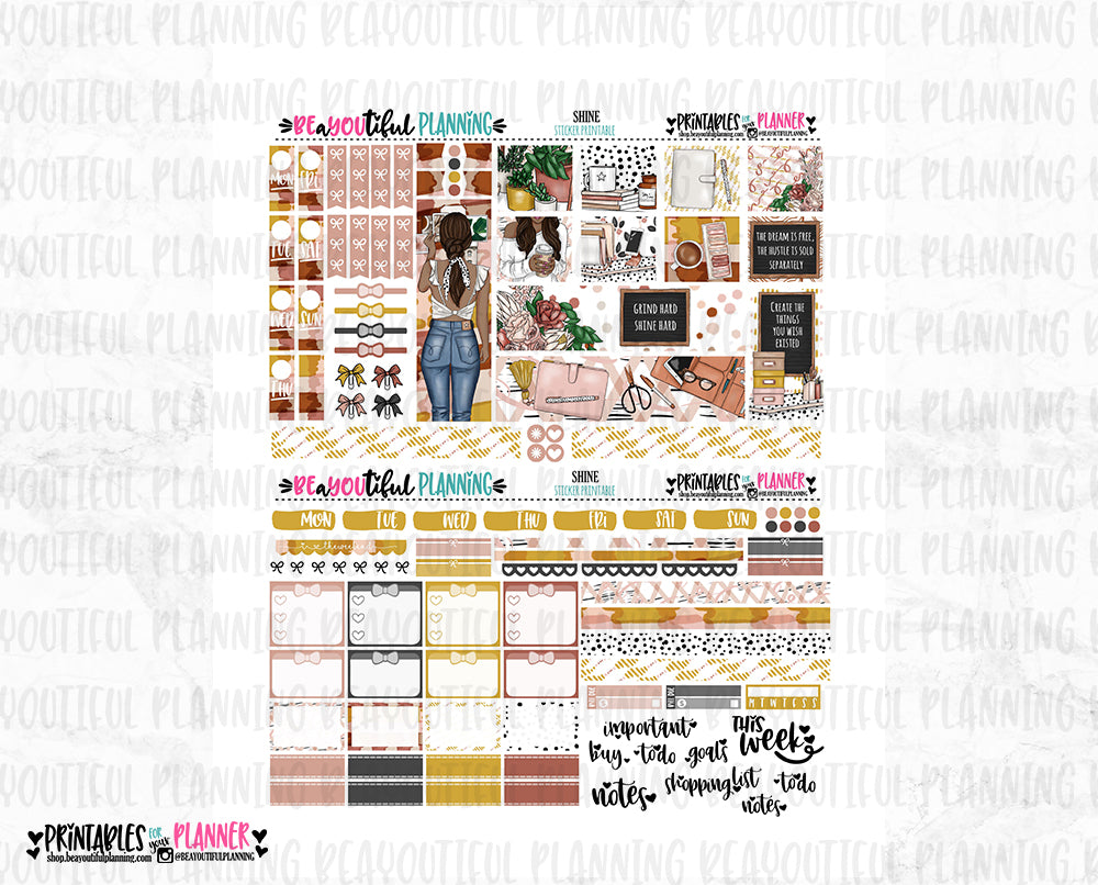 Shine Hobonichi Weeks Printable