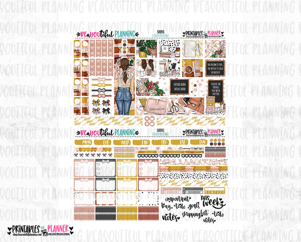 Shine Weekly Printable