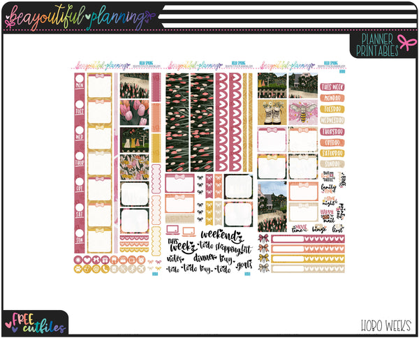 Hello Spring Weekly Printable *Choose Your Planner*
