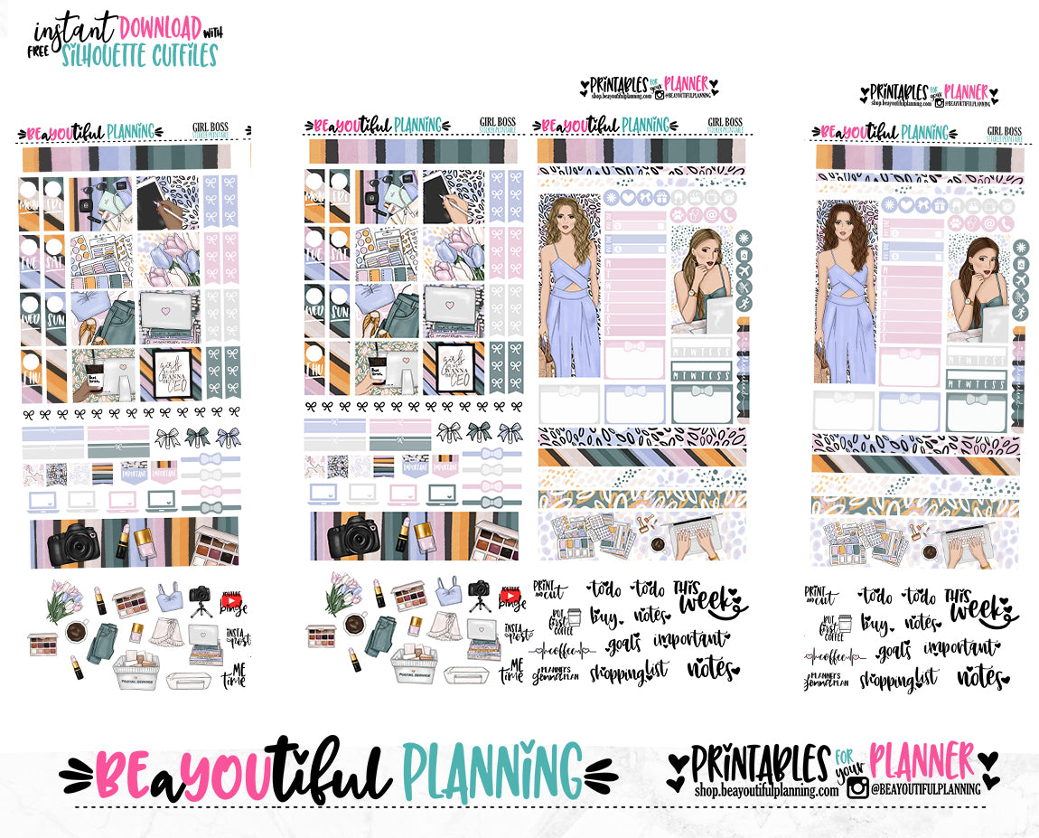 Girl Bosses Hobonichi Weeks Printable