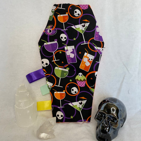 Spooky Cocktail Crinkle Coffin