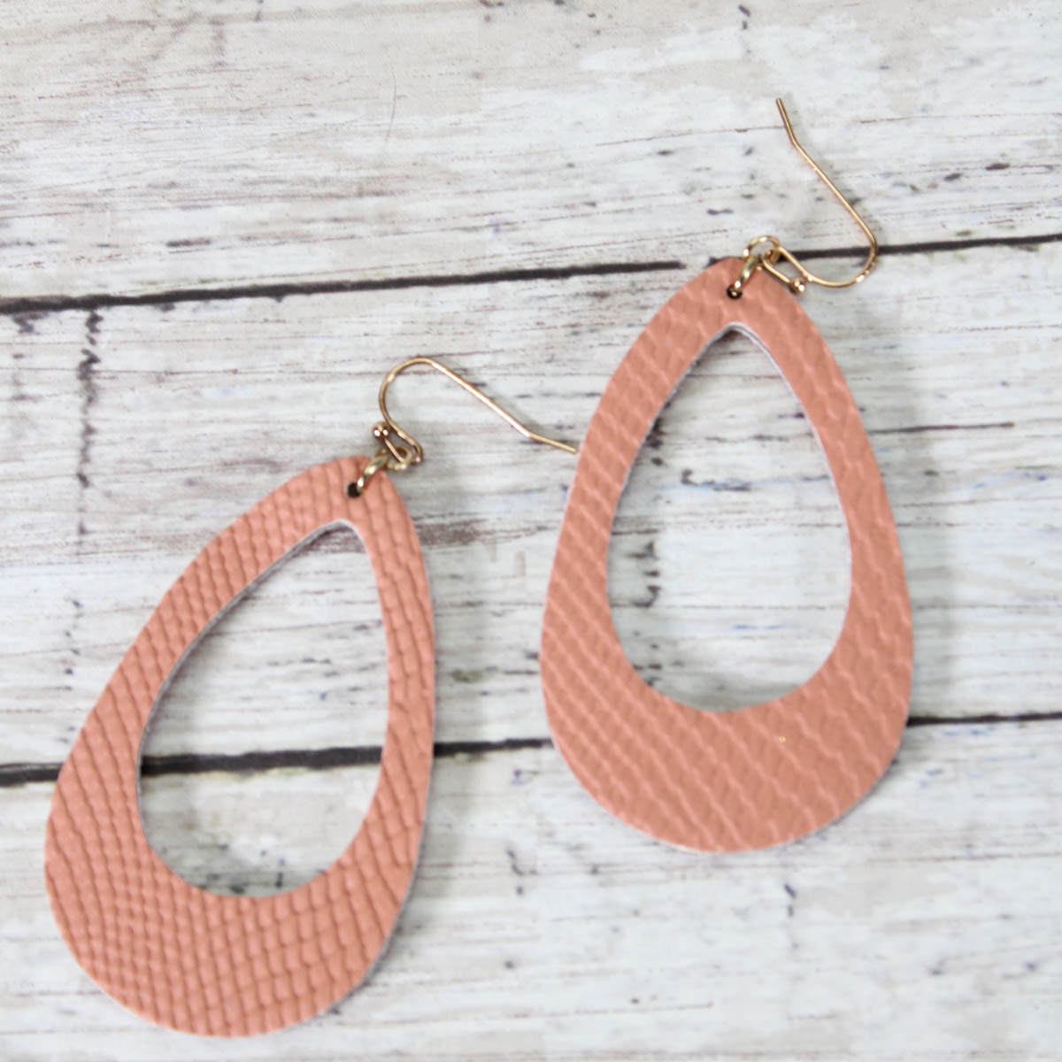 Faux Snakeskin Hoop Earrings- more colors