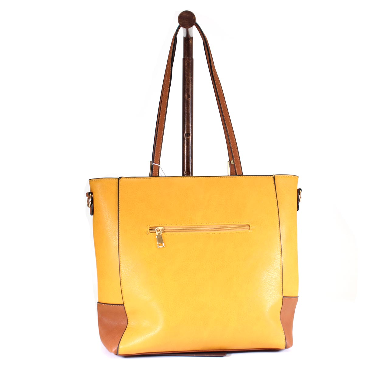 2-Tone Color Blocked Handbag