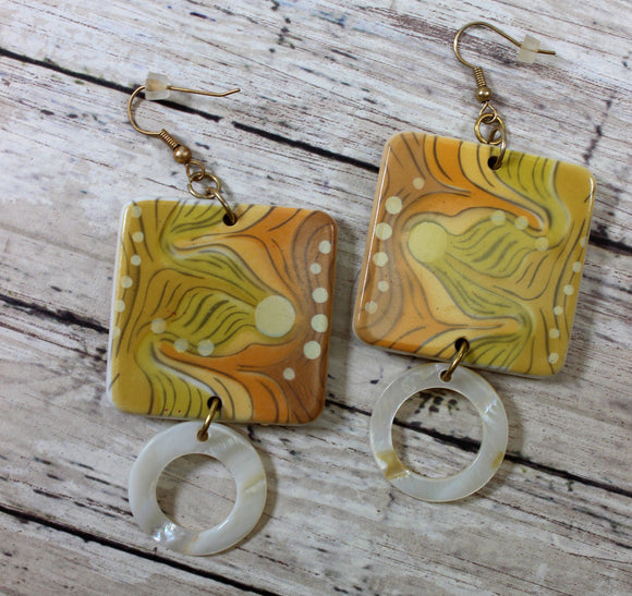 Retro Glass Earring