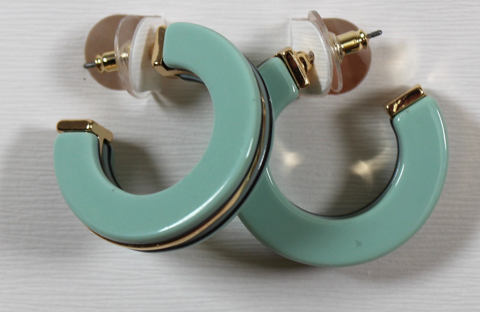 Resin Medium Hoop Earring
