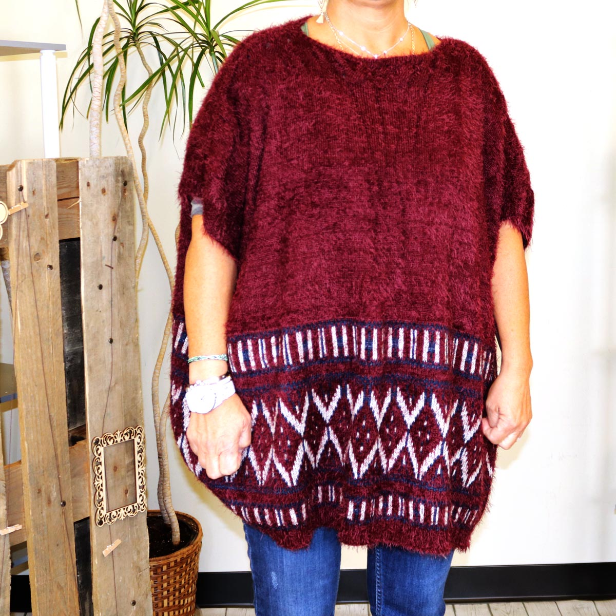 Cozy Poncho/ Top- more colors