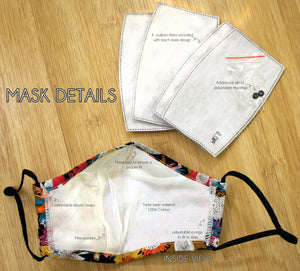 Fashion Face Mask-Pattern 5 pack