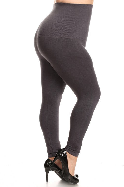 Hi Waist Compression Leggings- Plus Size