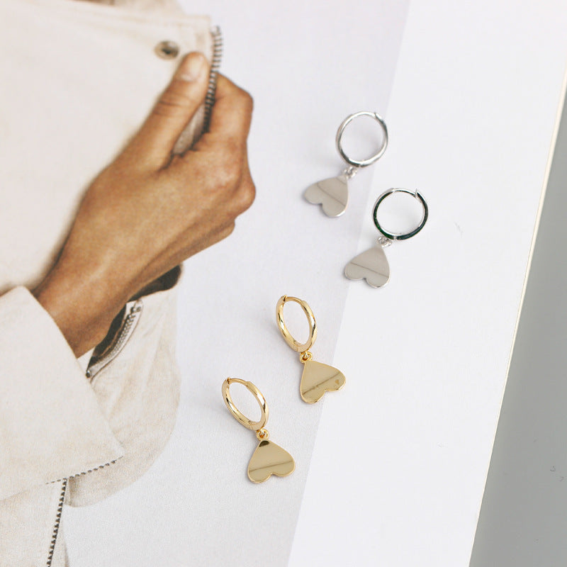 Upside-Down Heart Hoop Earrings from Empty Whole