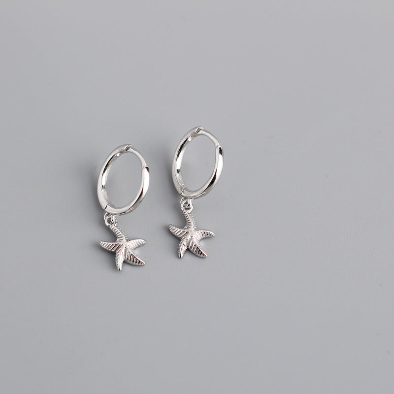 Star Fish Hoop Earrings from Empty Whole