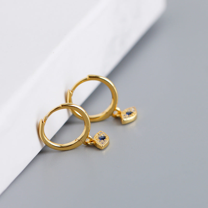Evil Eye Hoop Earrings from Empty Whole - Gold