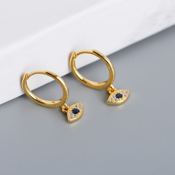 Evil Eye Hoop Earrings from Empty Whole