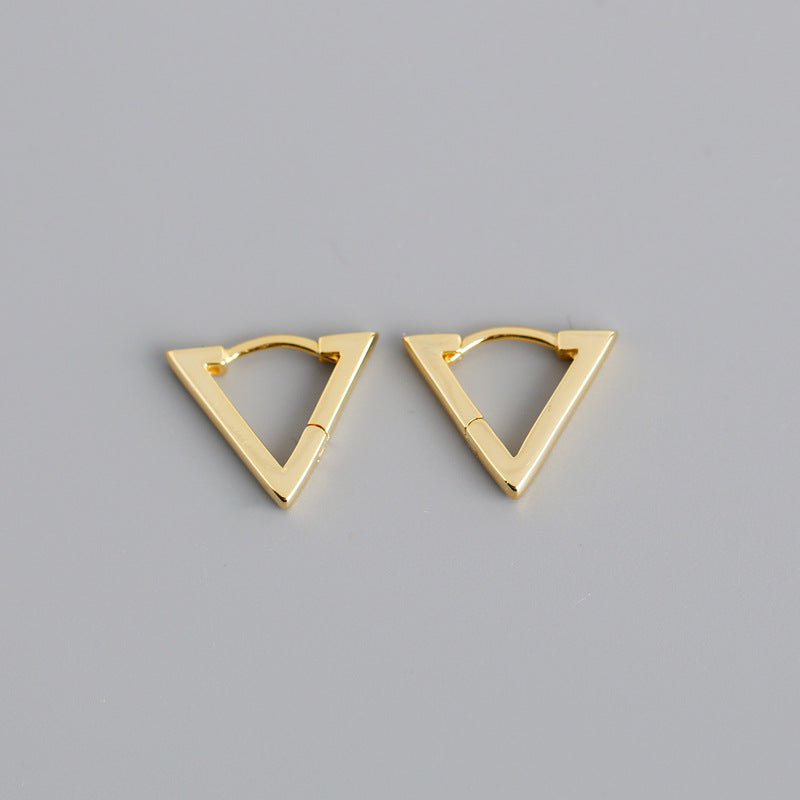 Triangle Shaped Hoop Earrings from Empty Whole