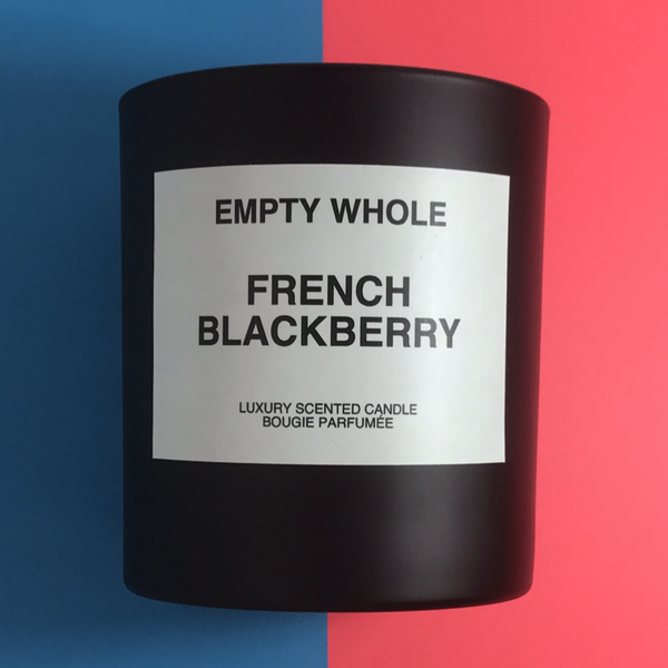 Empty Whole French Blackberry Candle