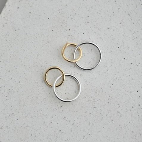 Contrast Double Circle Earring Empty Whole Jewelry
