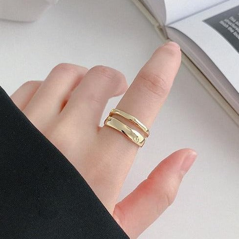 Vintage Open Cut Ring Gold Empty Whole Jewelry