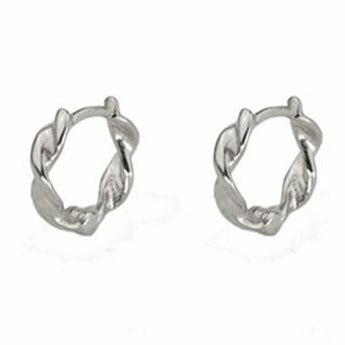 Twisted Huggie Hoop Earrings Empty Whole Jewelry