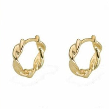 Twisted Huggie Hoop Earrings Gold Empty Whole Jewelry