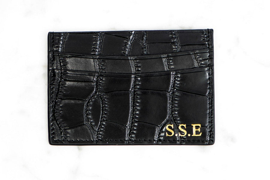 2ba632ea8a5c Personalised Card Holder - Black Personalised Leather Card Holder ...
