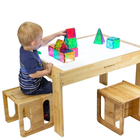 Kids light table and cube chairs