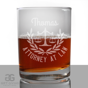 Personalized Lawyer Glass