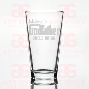 Custom Godfather Beer Pint Glass